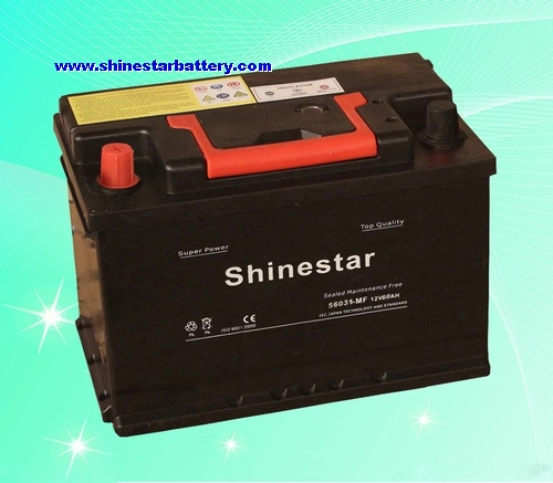DIN60 standards Sealed Maintenance Free Auto Batteries
