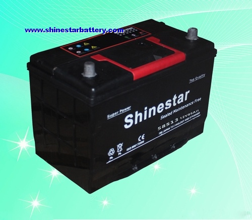 85AH DIN standards Sealed Maintenance Free car battery factory