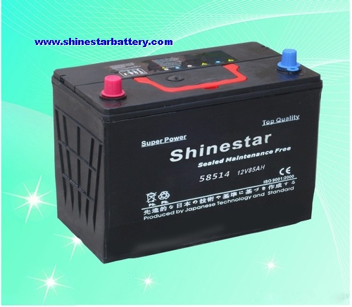 85AH DIN standards Sealed Maintenance Free car battery high quality