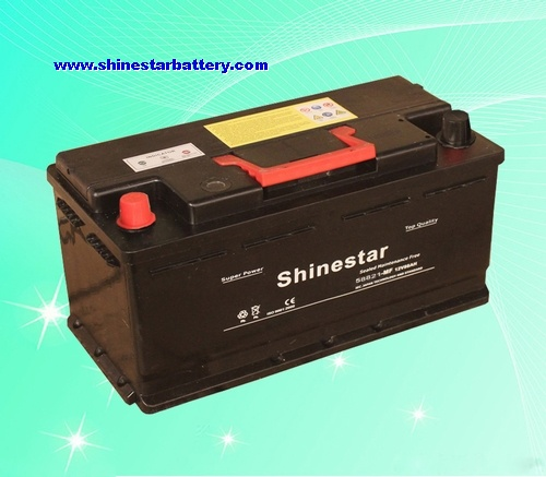 88AH DIN standards Sealed Maintenance Free Battery 12v car battery
