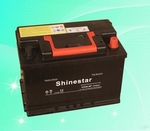 DIN standard 12V66Ah Sealed Maintenance free Car Battery